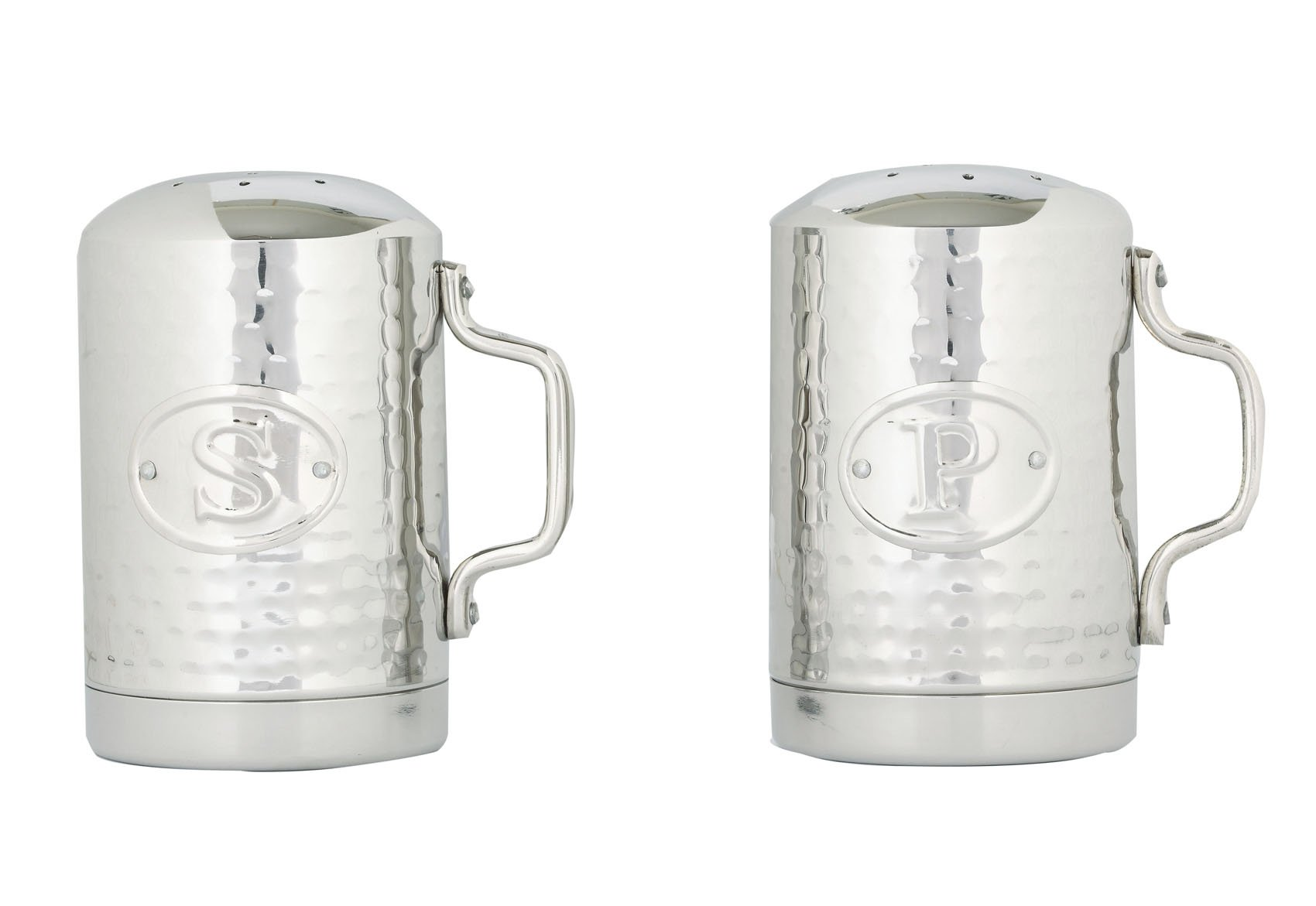 Old Dutch 933 Stainless Steel Hammered Stovetop Salt and Pepper Set, 4-1/4-Inch