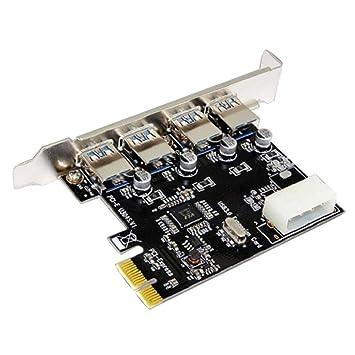 feeilty Adaptador, Tarjeta Vertical PCI-E 3.0 a USB Tarjeta ...