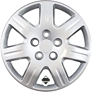 Set of 4 Silver 16 Inch 7 Spoke Replacement Honda Civic Hubcaps w/ Bolt On