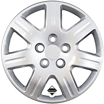 Set of 4 Silver 16 Inch 7 Spoke Replacement Honda Civic Hubcaps w/ Bolt On Retention System - Aftermarket: IWC452/16S by IWC: Amazon.co.uk: Car & Motorbike