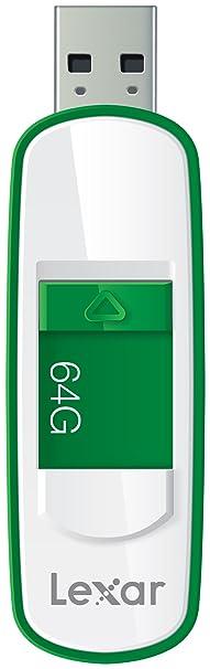 Lexar S75 64GB USB 3.0 JumpDrive - LJDS75-64GABEU - Grün, Weiß
