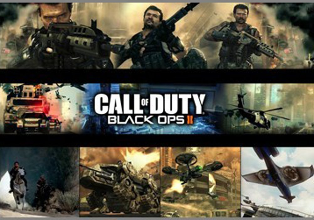 Fangeplus(TM) Call of Duty Black OPS II Gaming Poster Antique Vintage Old Style Decorative Poster Print Wall Coffee Shop Bar Decor Decals 23.6''x15.7''