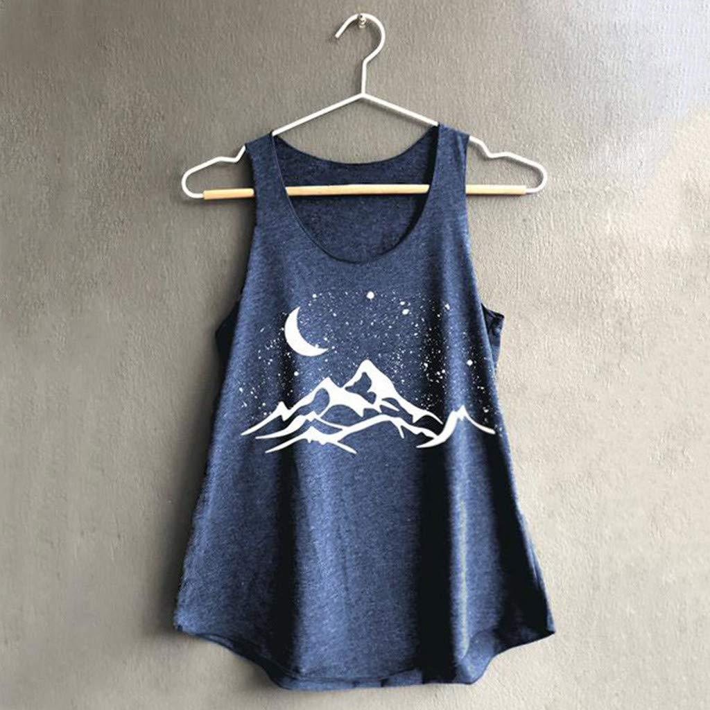 Summer Tank Top Women Sleeveless Print Shirt Casual Loose Vest Soft Plus Size Camisole Tankinis Beachwear Polos Tees