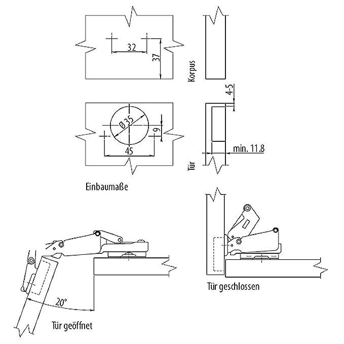 Hands Tool Hook Sto/ßd/ämpfer C-Maulschl/üssel 45-52mm Universal Merssavo Shock Wrench