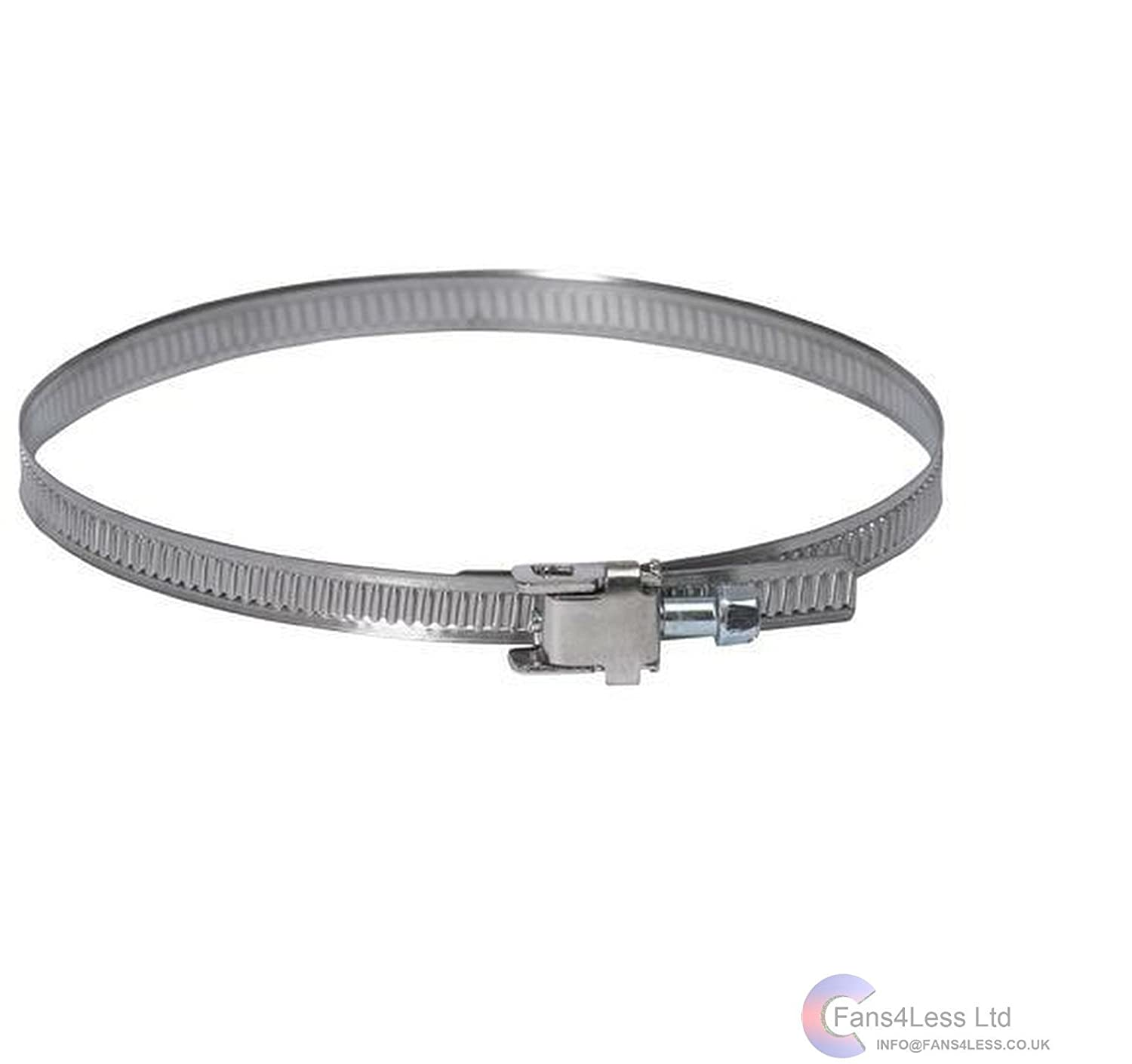 Duct Jubilee Clip Flexible Ducting Pipe Hose Ventilation 3' to 12' (2' to 4' (50mm to 110mm)) fans4less