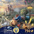 """Thomas Kinkade The Disney Dreams Collection: Beauty and The Beast Falling in Love Puzzle, 750 Pieces, 24"""" X 18"""""""