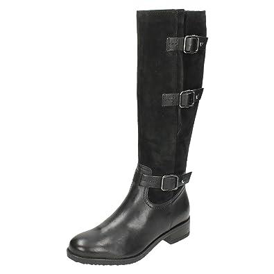 Clarks Tamro Marina Damen Stiefel  Stiefeletten  schwarz schwarz 41 EU D