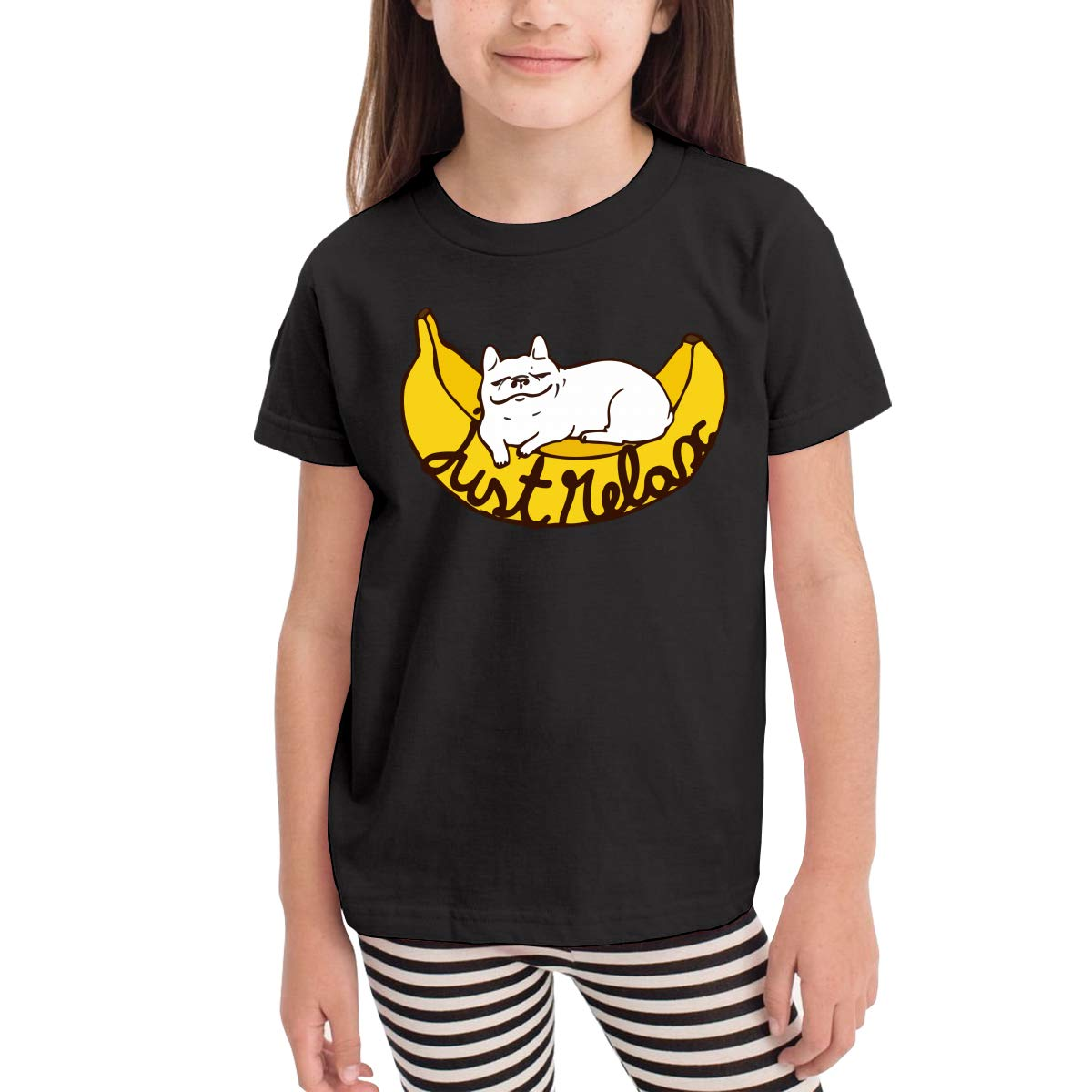 JUST Relax Kids Cotton T-Shirt Basic Soft Short Sleeve Tee Tops for Baby Boys Girls