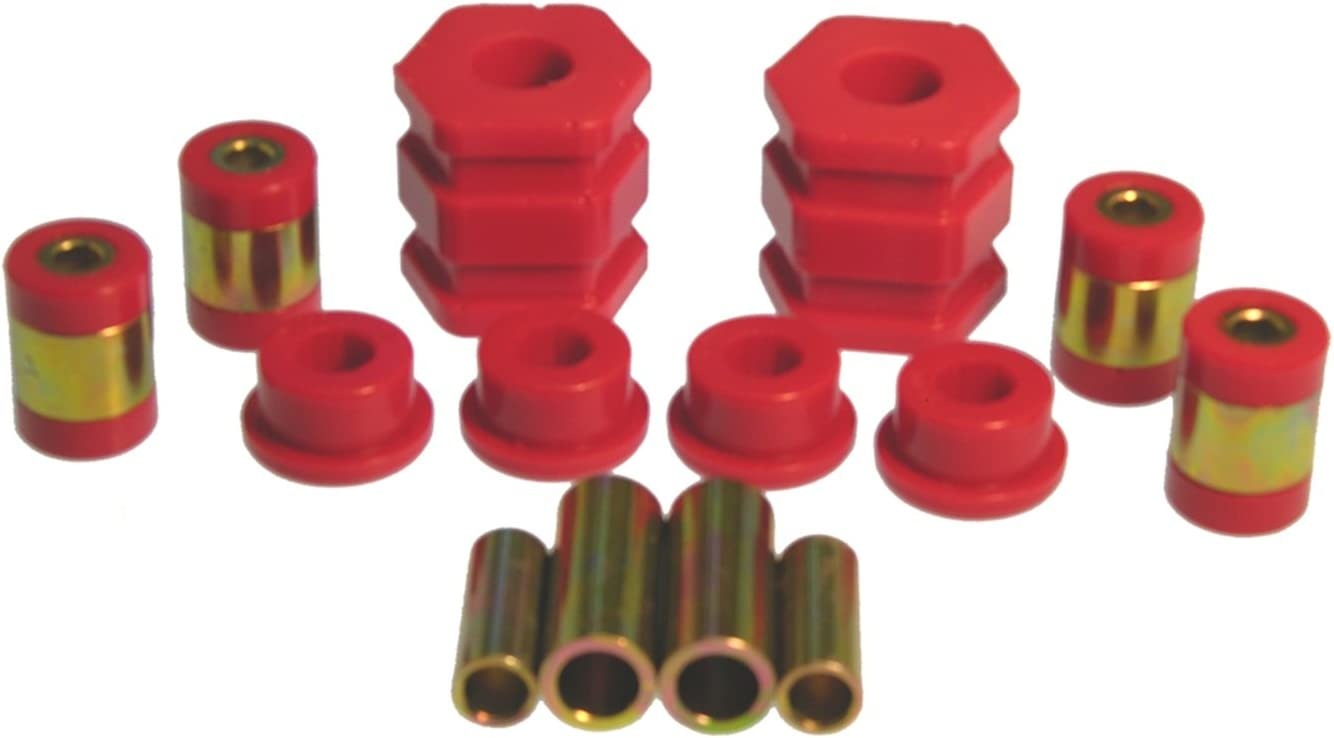 Prothane 8-204 Red Front Upper and Lower Control Arm Bushing Kit