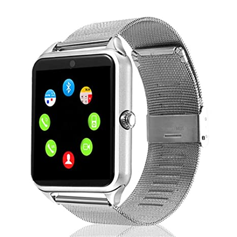 Amazon.com: LARDOO Smart Watch GT08 Plus Correa de metal ...