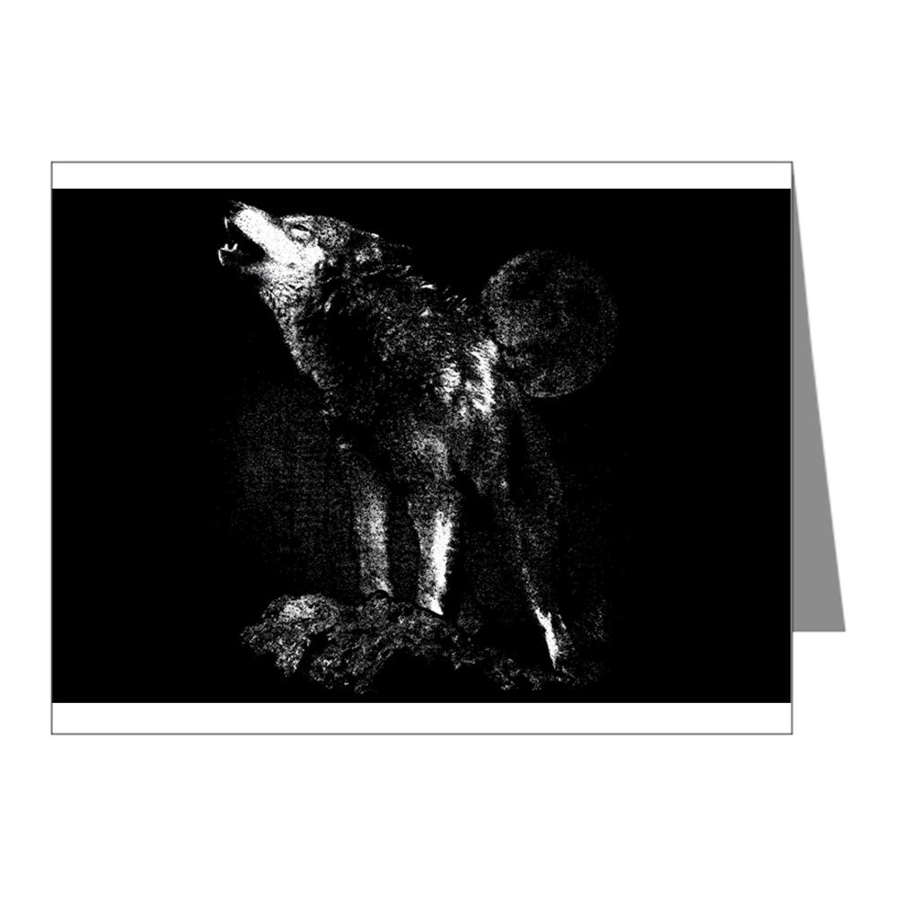 Note Cards (20 Pack) Wolf Howling at Moon