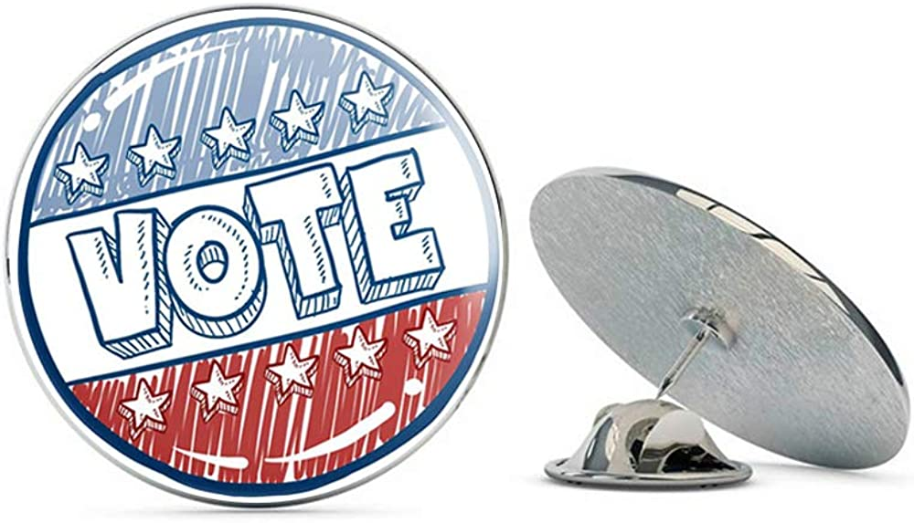 Leyland Designs Vote Political Slogan Metal 0.75 Lapel Hat Pin Tie Shirt Backpack Tack Pinback