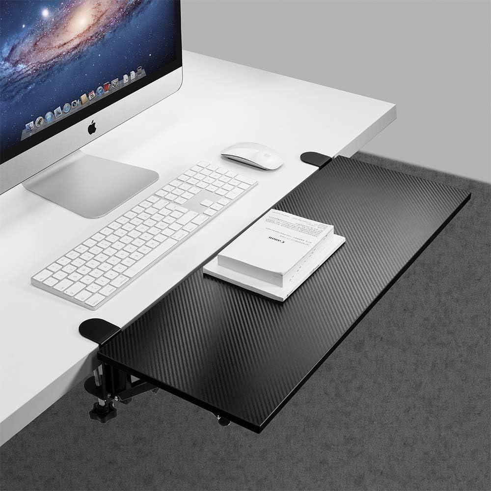 Vaydeer Ergonomics Desk Extender Tray Clamp On Keyboard Drawer Table Mount Armrest Shelf Stand Slide Computer Elbow Arm Support