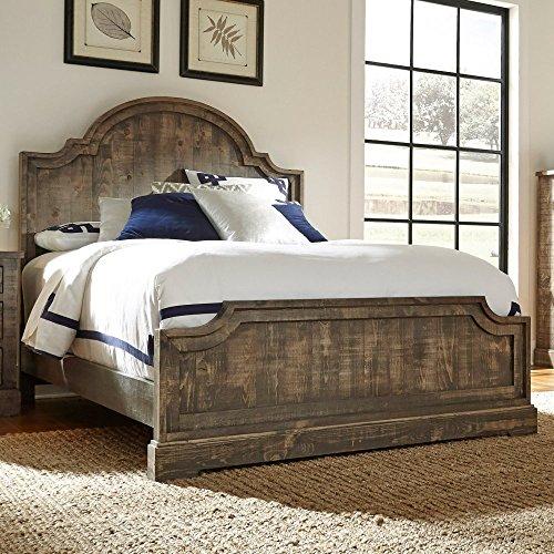 Bedroom Pine Headboard (Progressive Furniture P632-94/95/78 Meadow King Panel Complete Bed, Weathered Gray)