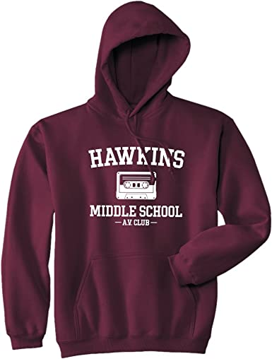 Sudadera con capucha de Mars NY Hawkins Middle School AV Club – Stranger Things
