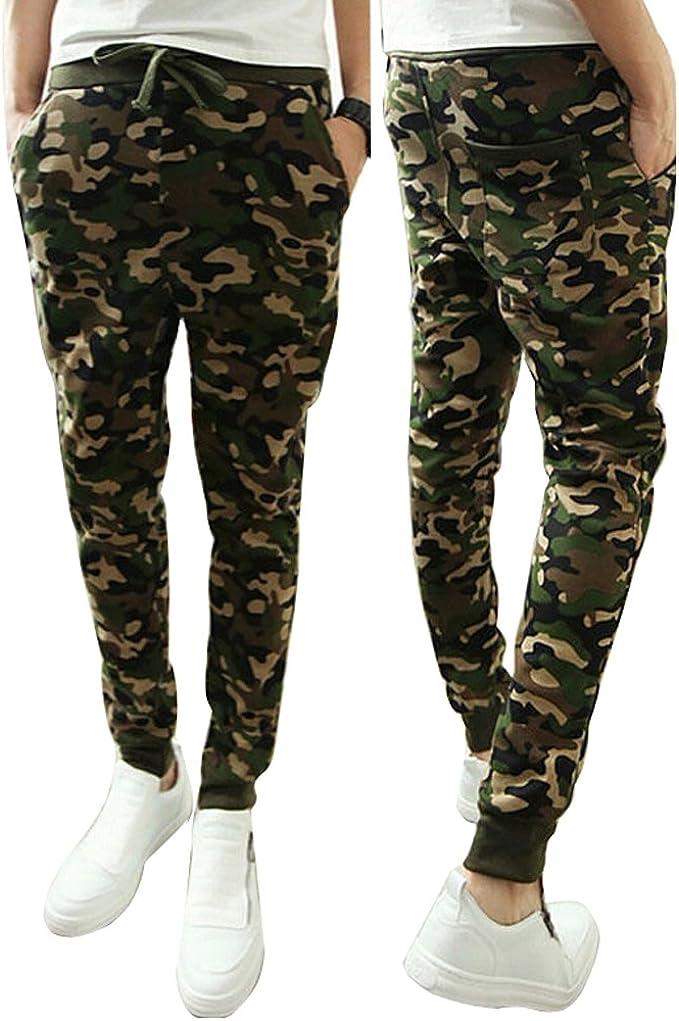 Men/'s Camo Harem Pants Casual Jogger Sportswear Slacks Dance Long Trousers M~2XL