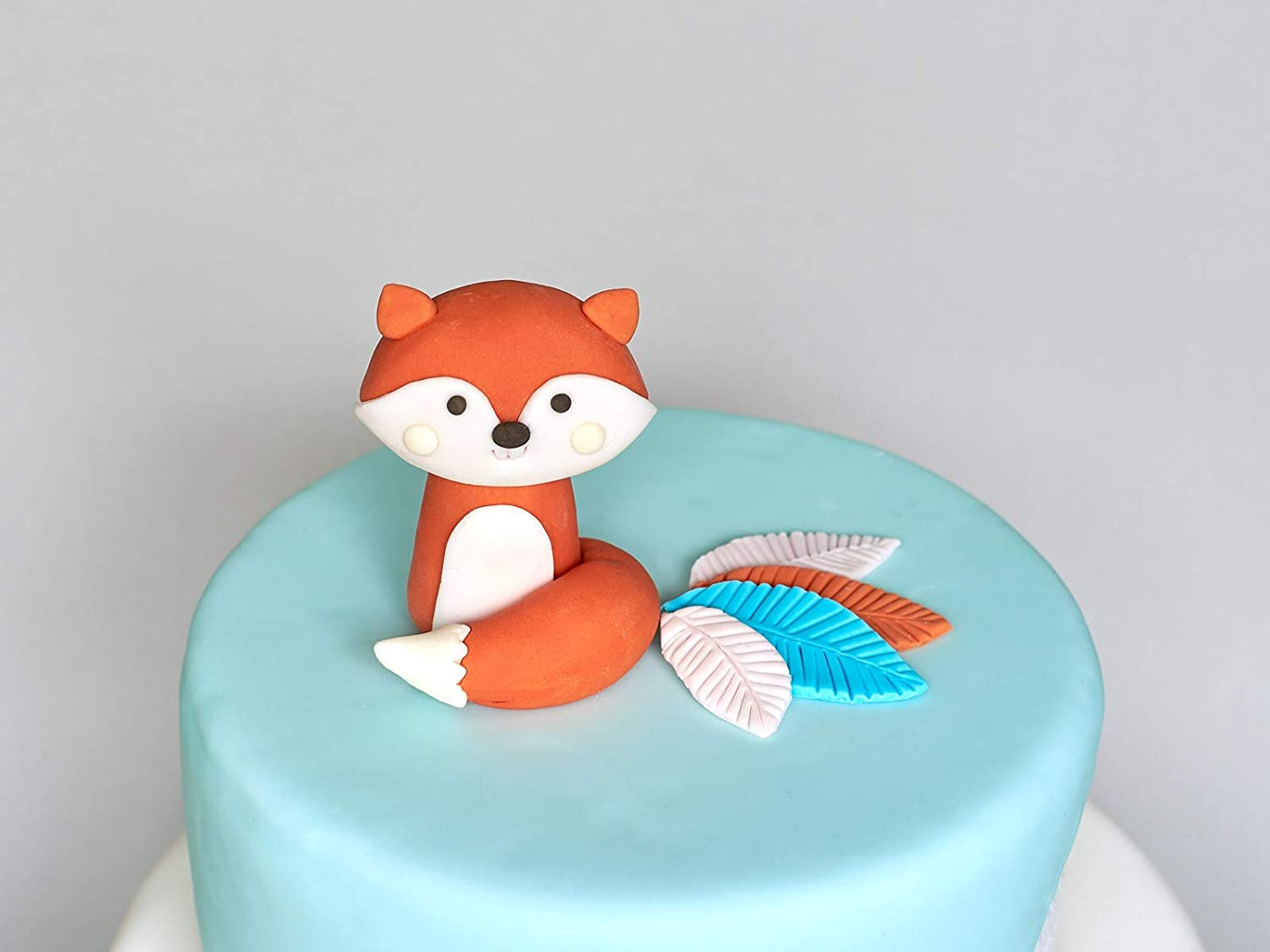 Phenomenal Amazon Com Woodland Fox Fondant Cake Topper 3D Edible Birthday Funny Birthday Cards Online Sheoxdamsfinfo
