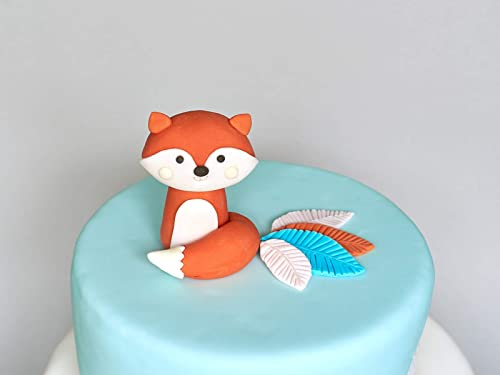 Stupendous Amazon Com Woodland Fox Fondant Cake Topper 3D Edible Birthday Funny Birthday Cards Online Alyptdamsfinfo