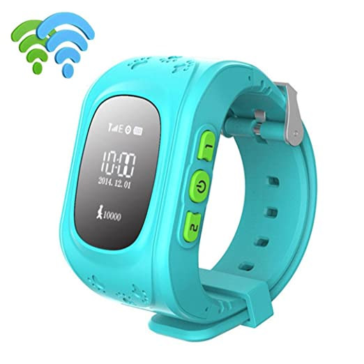 RTYou New Anti-lost Children Smart Watch GPS Positioning Bluetooth Wrist For Android & IOS (Blue)