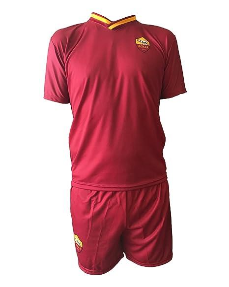 Conjunto Equipacion Camiseta Pantalones Futbol Roma Francesco Totti 10 Replica Autorizado 2017-2018 Niños Adultos (Talla 8 Años): Amazon.es: Deportes y aire ...