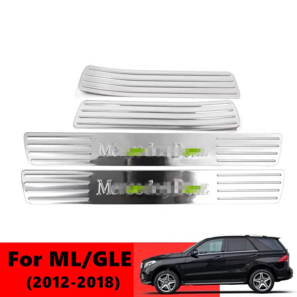 JNXZHQC Auto willkommen Pedal interne Edelstahl Auto Form F/ür Mercedes GL ML GLE GLS W166 W292 W164