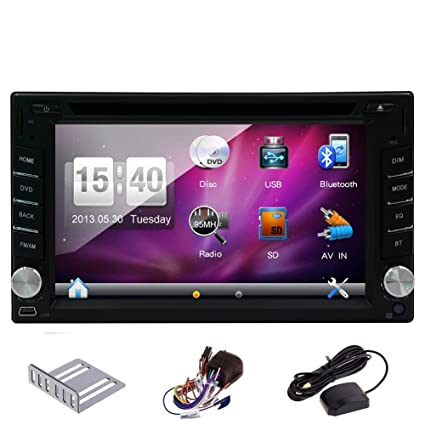 Amazon pupug 62 inch double 2 din in dash gps navigation car pupug 62quot inch double 2 din in dash gps navigation car stereo car dvd player asfbconference2016 Image collections