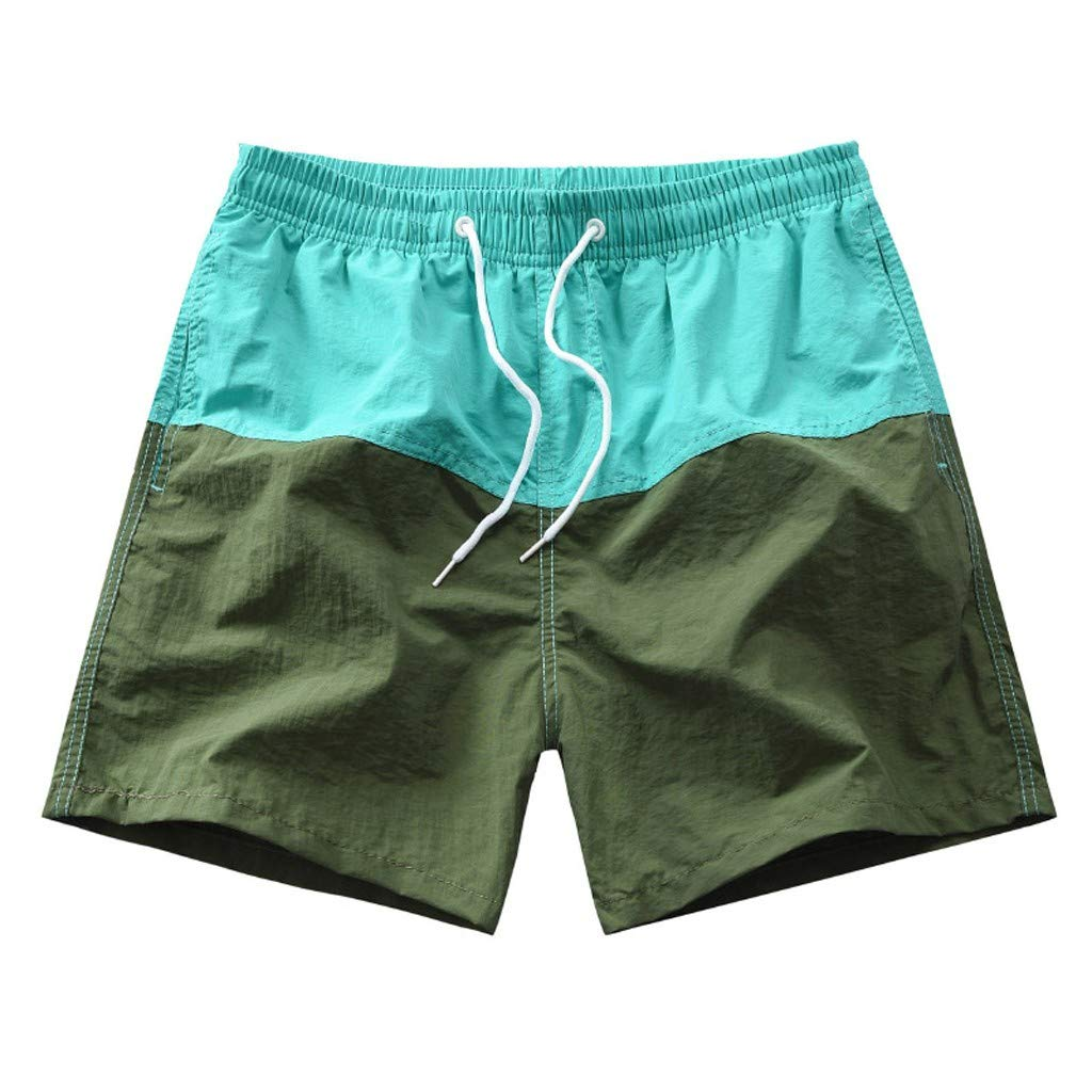 Mens New Summer Printed Sport Swimming Quick Drying Casual Loose Beach Pants