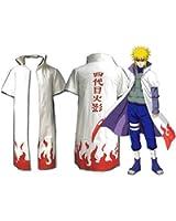 Naruto 4th Yondaime Hokage Cosplay Costume Cloak