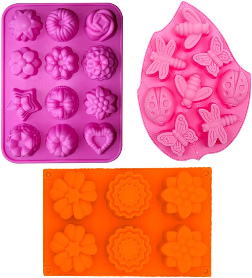 Soap Mould Pyramids 71mm x H40mm 6 Pieces New Cake Mousse Silicone Cake Mould