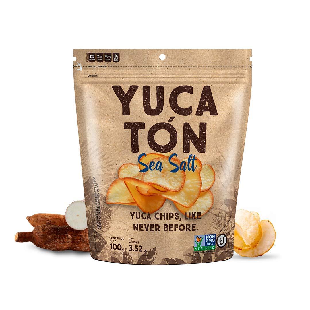 Yucaton by Chifleton Sea Salt | Yucca - Cassava Chips | Non GMO, Gluten Free, Kosher | 12 PACK, 3.52oz each