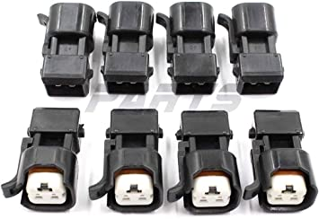 8pcs Fuel Injector Adapter Connector Kit Replacement for EV1 to USCAR EV6 /& EV14 Chevy LS1 LS2 LS3
