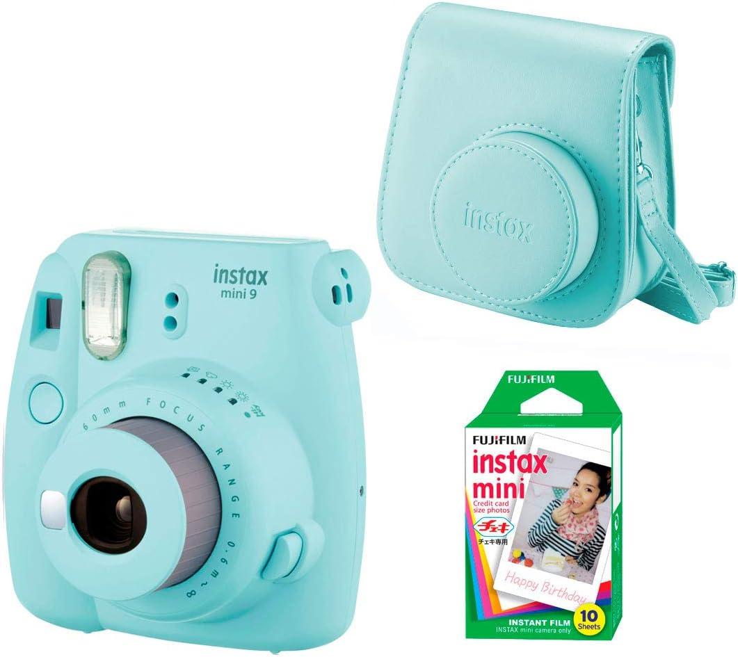Fujifilm Instax Mini 9 - Kit de Cámara Fotográfica con Funda y Peliculas (10), Azul (Ice Blue): Amazon.es: Electrónica