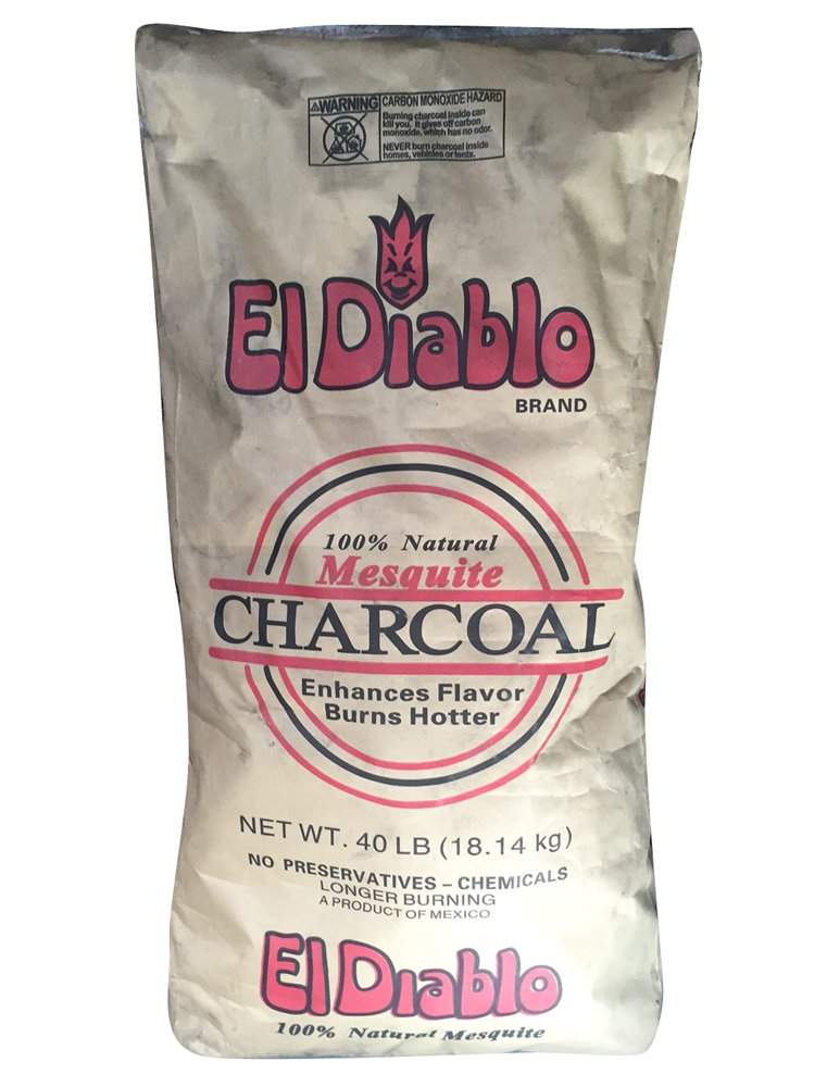 El Diablo Mesquite Hardwood Charcoal - 40# Bags by El Diablo