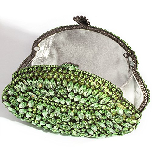 Evening Beautiful Digabi Handbags Bags Crystal Clutch Green Rose Women Pw7wXg