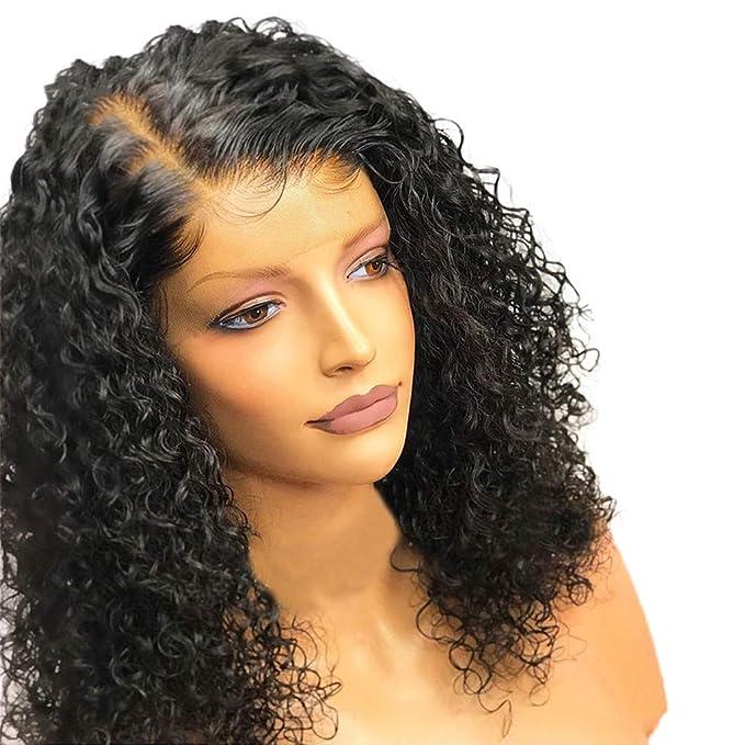 Andouy - Peluca de pelo rizado brasileño para mujer, pelo rizado ...