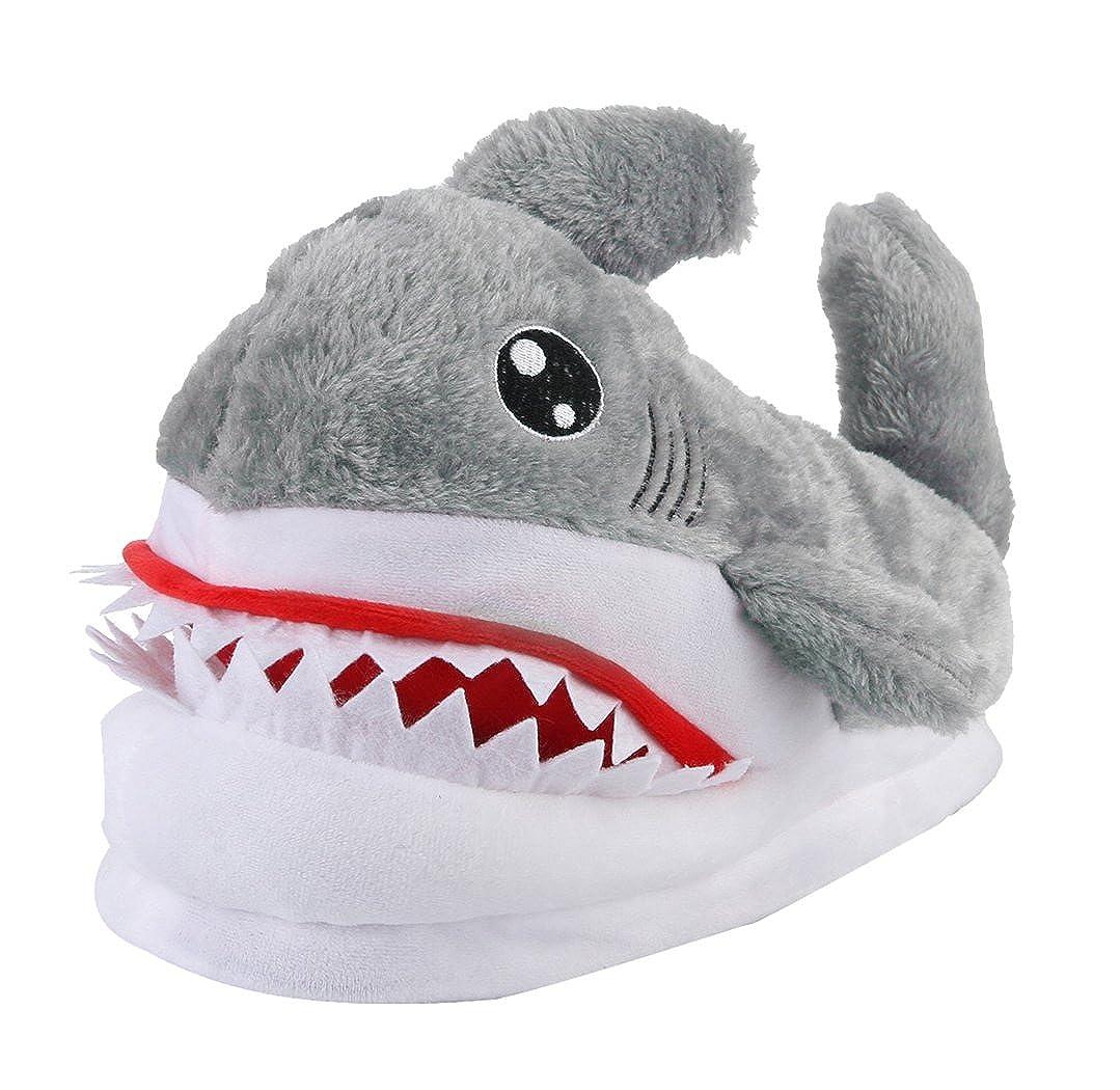 Y-BOA Chausson Slipper Mixte Chaussure Peluche Adulte Mixte Costume Requin Homme Requin Antidérapant Hiver Chaude Femme Homme Gris 8da1aea - robotanarchy.space