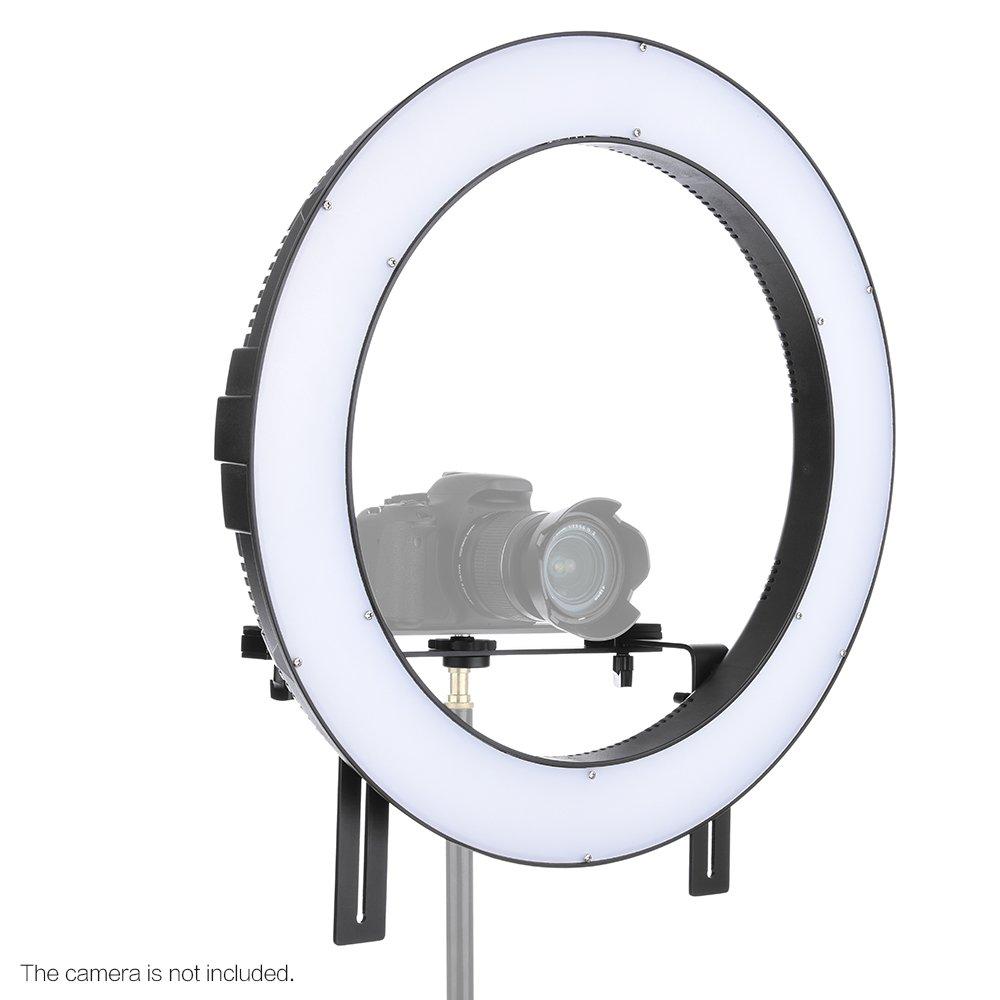 3200/K di 5600/K regolabile Temperatura Andoer Falke Occhi DVR della 512d VC Video Camera Fotografia Studio all aperto anello LED lampada luce Fill-in CRI90/