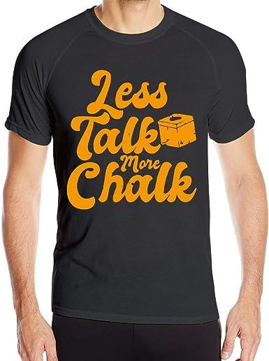 Less Talk More Chalk Camiseta de Manga Corta de Secado rápido para ...