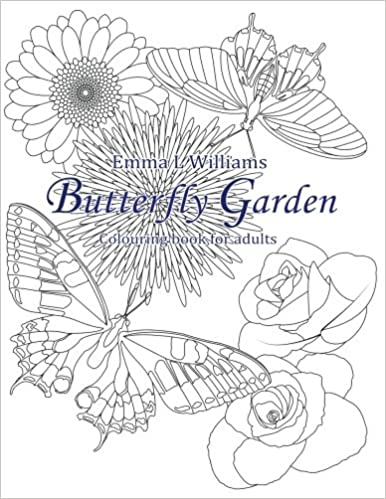 Amazoncom Butterfly Garden Colouring Book For Adults