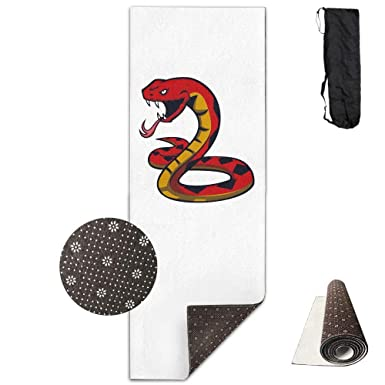 Amazon.com: Workout Mat for Yoga, Fire Snake -White Printed ...