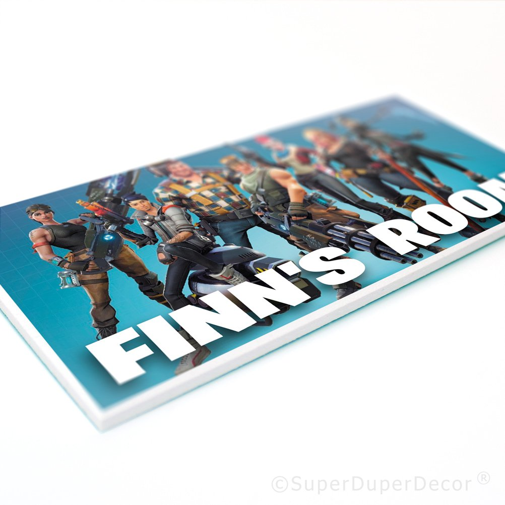 SuperDuperDecor FORTNITE DOOR PLAQUE personalised bedroom sign (matches our boys girls childrens bedroom decor) - BATTLE ROYALE SuperDuperDecor®