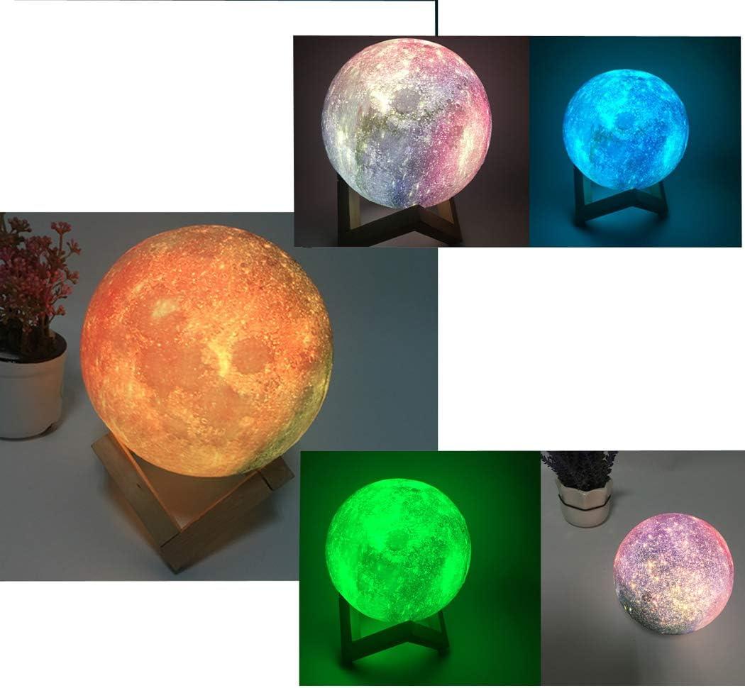 12 cm Luz de Noche de Cielo Estrellado Luz de Luna LED Abcsea L/ámpara de Cielo Estrellado 3D con 7 Colores L/ámpara de Luna LED 3D