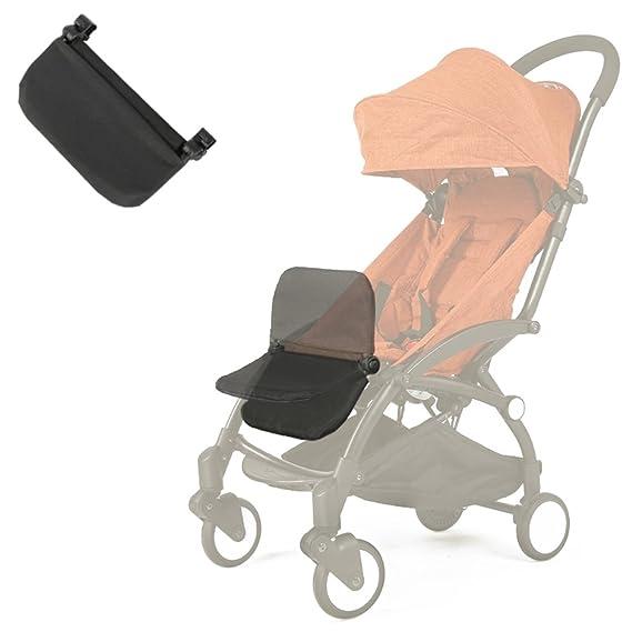 Reposapiés para carrito de bebé, extensión para piernas, accesorio para cochecito de bebé, tabla plegable y ligera de 16,5 cm, de color negro