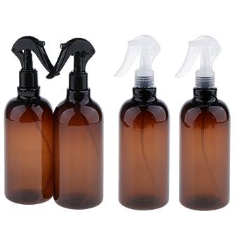 Sharplace 4 Unidades 500ml Botella Vacía de Plástico Portátil Botella de Aerosol a Prueba de Fugas