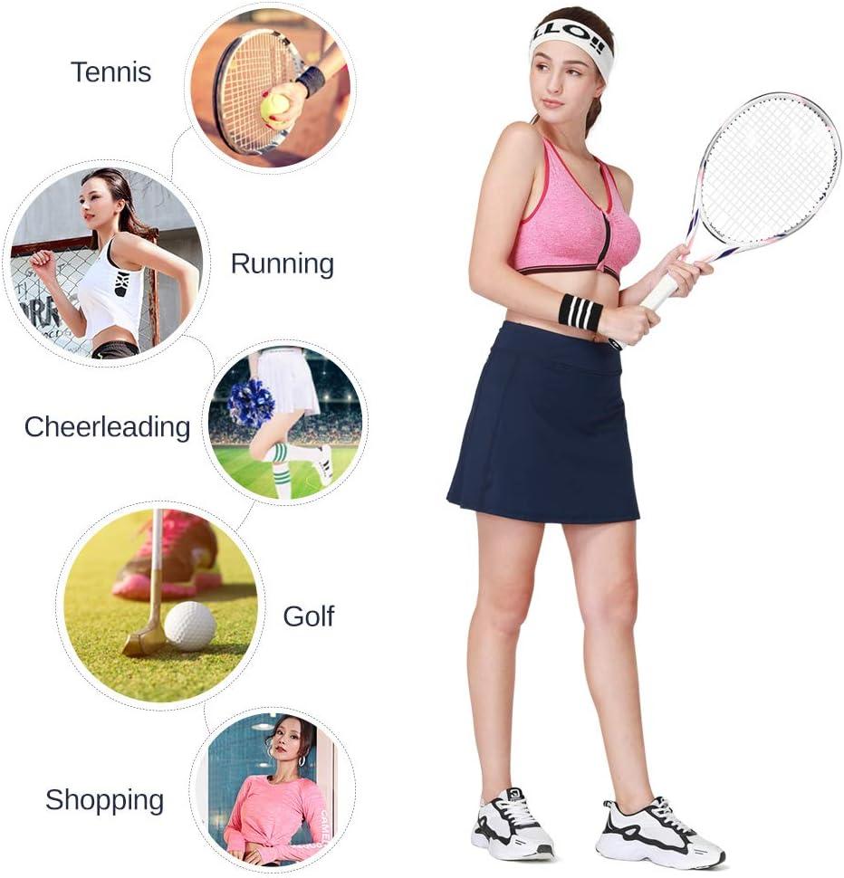 Camel Jupe de sport l/ég/ère avec poches pour tennis entra/înement golf course /à pied