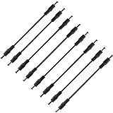 DC Kabel Hohlstecker, TASVICOO 8er 30cm DC Male zu Male Stecker Stromkabel Adapter Anschlusskabel 5,5 x 2,1 mm für CCTV Kameras LED Strips