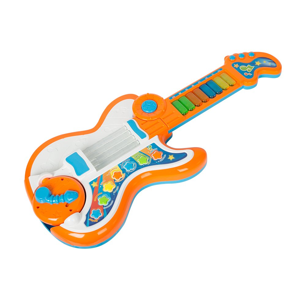 COLORTREE Electronic Kids Music Piano Multi-Function Guitar Toy USB Cord (Included)