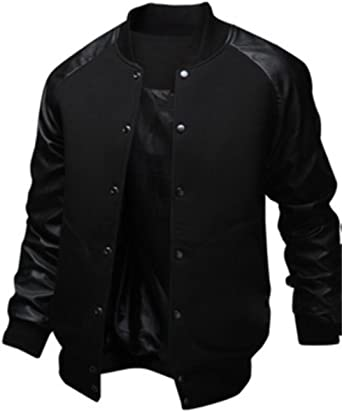 Nanquan Men Slim Button Up Stand Collar Casual Long Sleeve Shirts