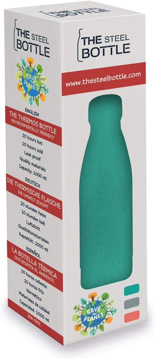 Tempo Libero Bottiglia Termica 1LT Fitness Campeggio The Steel Bottle Steel Bottle Verde