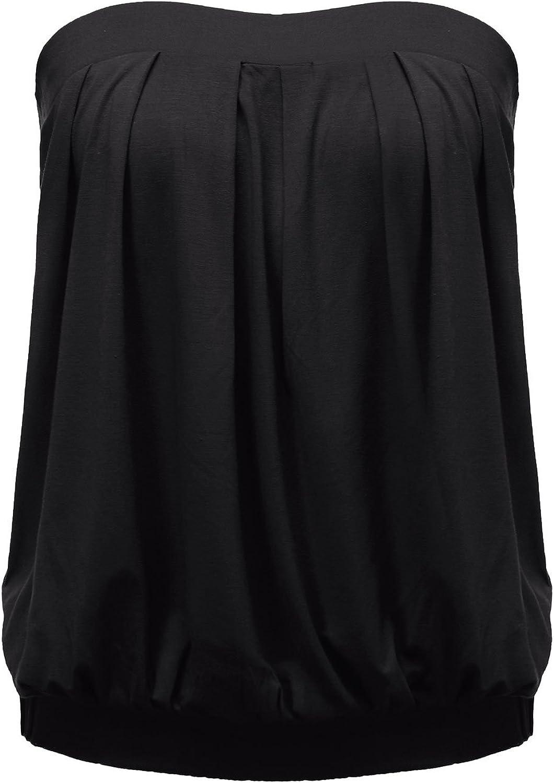ZANZEA Women's Tube Tops Tie Dye/Solid Strapless Shirt Sleeveless Pleated Blouse